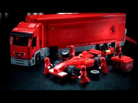 lego racers ferrari truck 2004 youtube. Black Bedroom Furniture Sets. Home Design Ideas