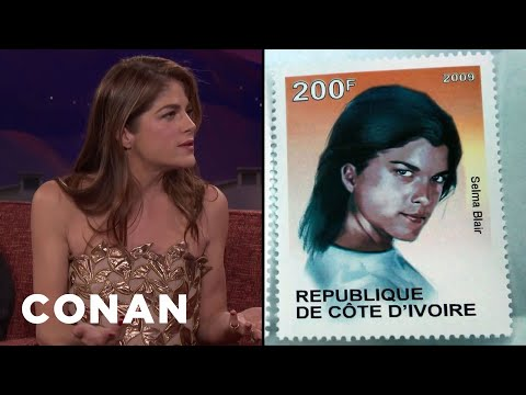 Selma Blair Was On A Postage Stamp In West Africa   CONAN on TBS