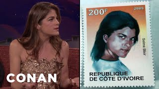 Selma Blair Was On A Postage Stamp In West Africa  - CONAN on TBS