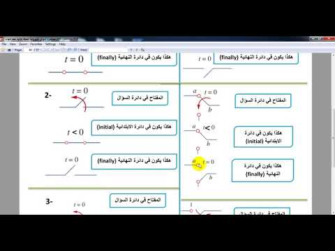 Response first order electrical circuit شرح موضوع فيرست اورد