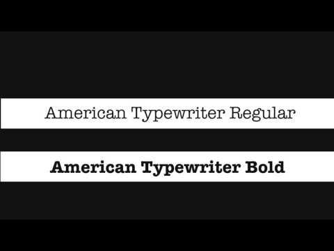 Kinetic Typography- American Typewriter