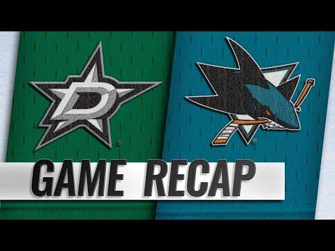 Meier's two goals help Sharks hold off Stars, 3-2