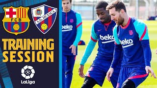 ⚽💪 TRAINING SESSION AHEAD OF #BarçaHuesca