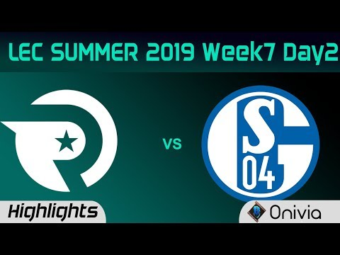OG vs S04 Highlights LEC Summer 2019 W7D2 Origen vs FC Schalke 04 LEC Highlights By Onivia