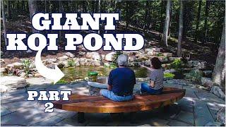 Custom Pond For LARGE KOI   Part 2