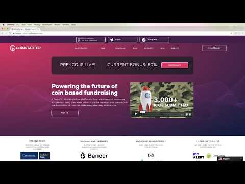 HOW TO PARTICIPATE IN COINSTARTER PRE-ICO & ICO WITH ETHEREUM!