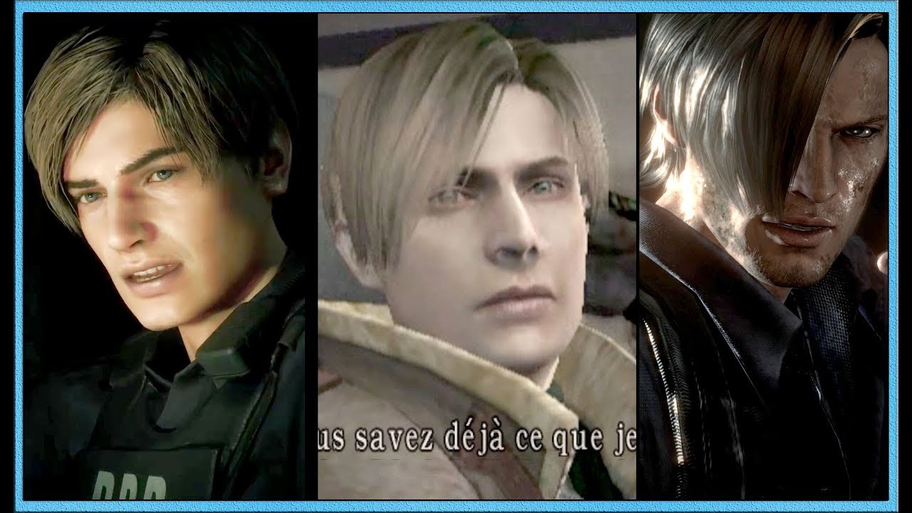 Leon S Kennedy Re4 Vs Re6 Vs Re2 Remak Comparison Hd Youtube