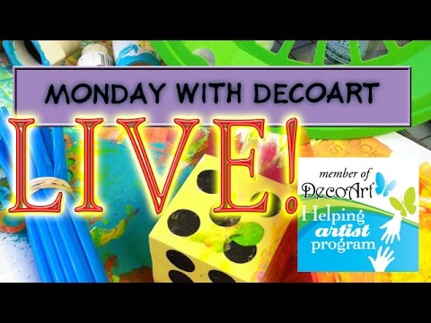 Monday With DecoArt - Abstracted Still Life #decoart