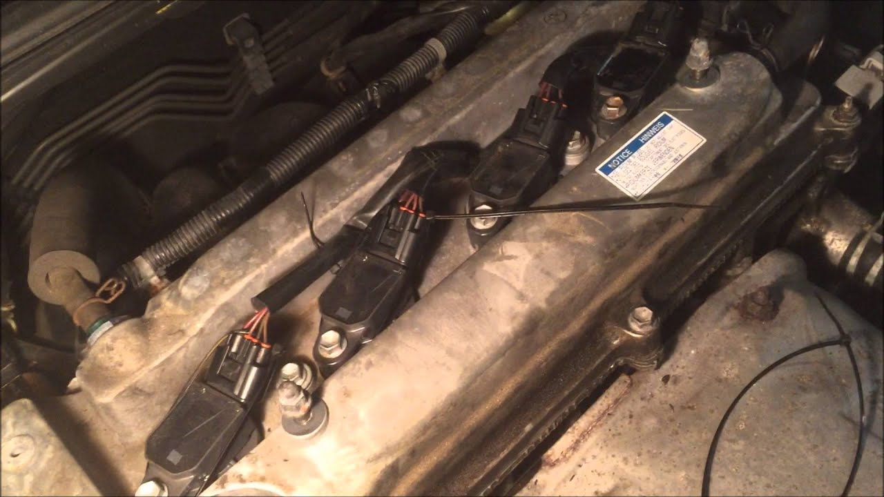 scion tc spark plug wire broken clip quick fix repair 2az-fe