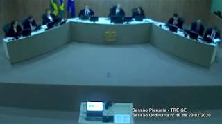 Sessão Plenária do TRE-SE (20/02/2020)