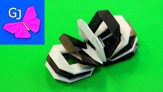 Движущиеся оригами из бумаги Пружинка