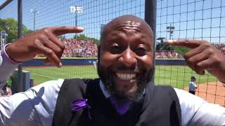 Softball superfan cheers on players at WCWS