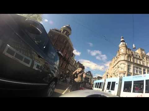 Dutch bicycle trip through Amsterdam's city centre