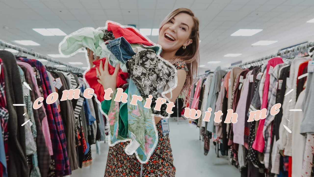 COME THRIFT WITH ME   First time thrifting in 2 months and I went OFF   Thrift haul and styling