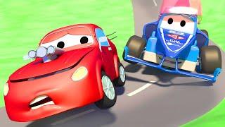 スーパートラッ ⍟  レスキュートラック  🚚 カーシティー - 子供向けトラックアニメ Super Truck Animation for Kids