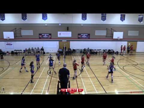 Pacific Academy vs Surrey Christian - Semi Final - 2014 Girls BC AA Volleyball Provincials