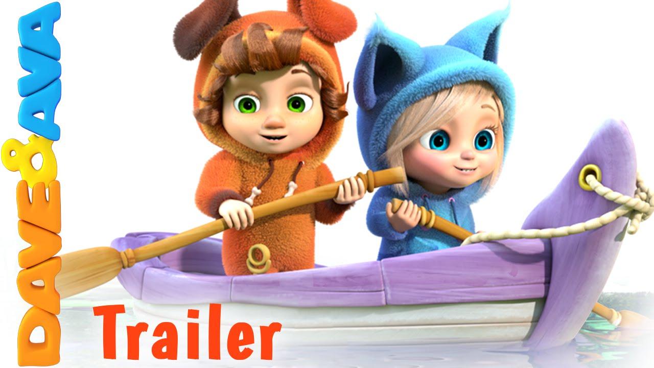 Row Row Row Your Boat Trailer Nursery Rhymes And Baby