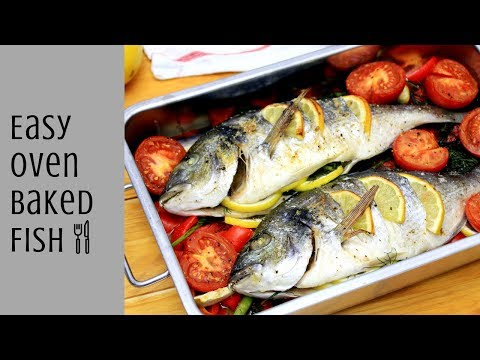 HOW TO MAKE EASY OVEN BAKED FISH - OVEN BAKED WHOLE GILT-HEAD BREAM RECIPE | INTHEKITCHENWITHELISA