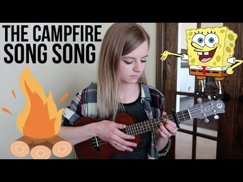 The Campfire Song Song From Spongebob Ukulele Cover Youtube
