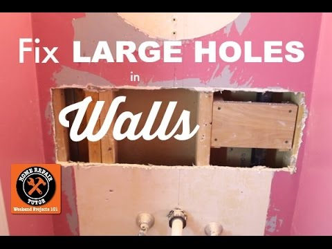 How to Fix a Large Hole in the Wall -- by Home Repair Tutor