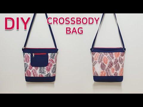 DIY Crossbody zipper pocket bag/Sling Bag Tutorial/지퍼포켓이 있는 크로스백만들기/가방만들기[jsdaily]