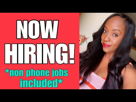 5 New Work From Home Jobs Available Now!