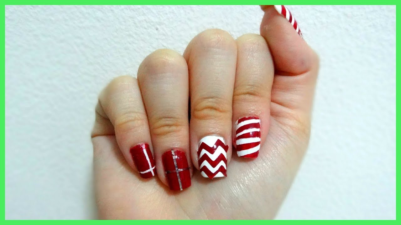 Nail Art Ideas nail art tricks : Tips and tricks on using tape for nail art! Christmas edition ...
