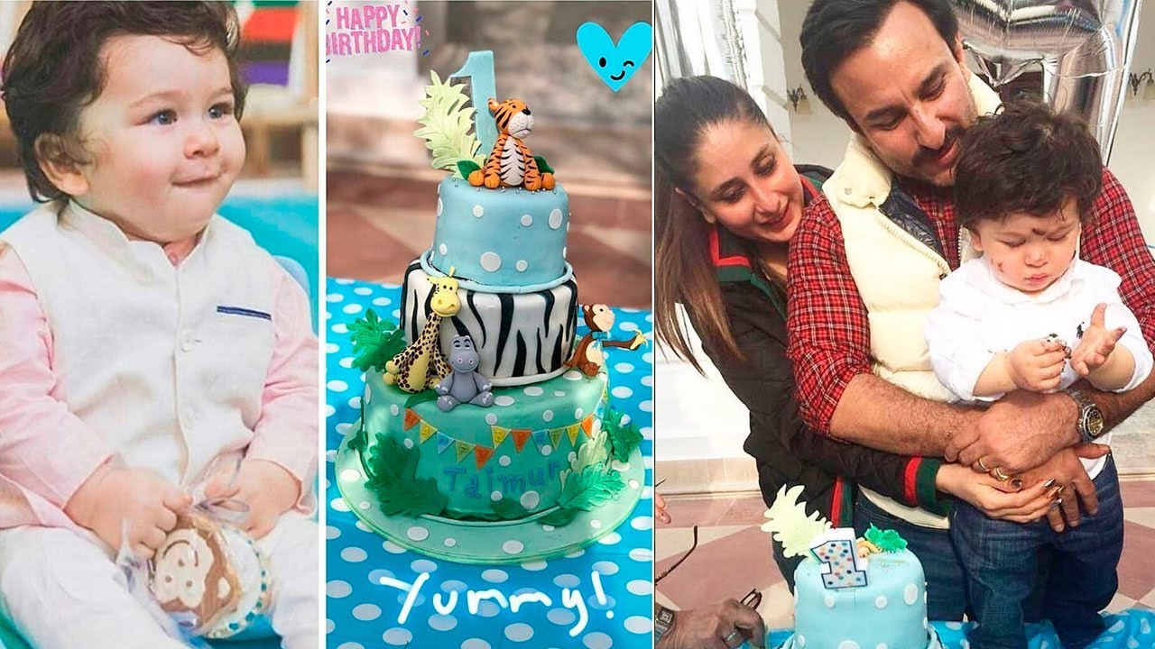 Taimur Ali Khan Birthday Cake Cutting With Mom Kareena And Dad