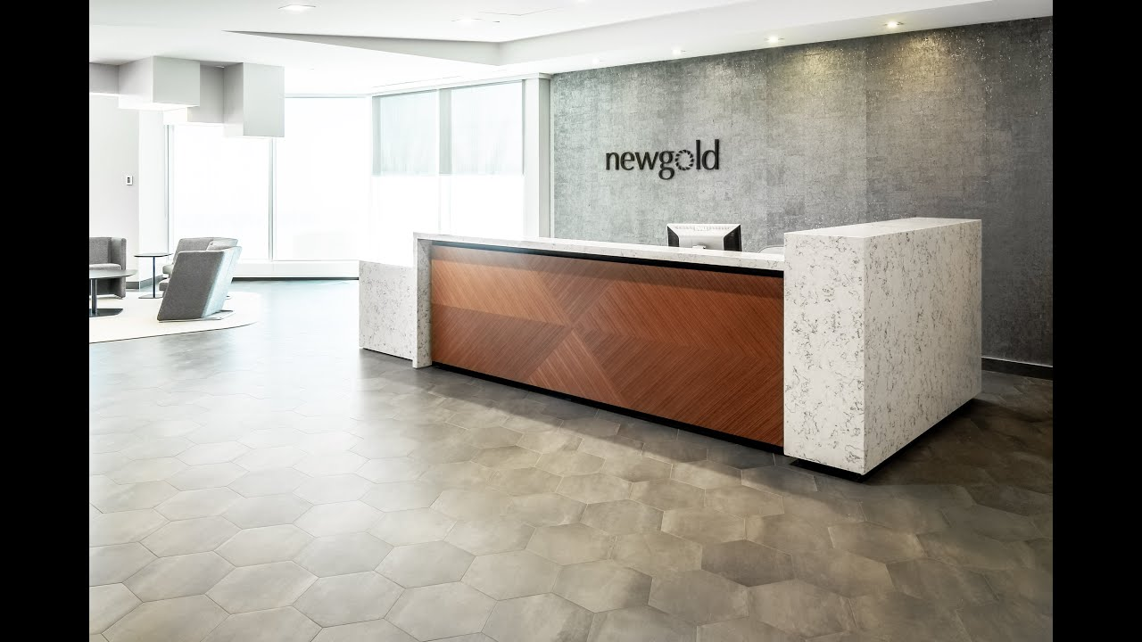 Custom White Quartz Corporate Office Reception Desk | New Gold Inc ...