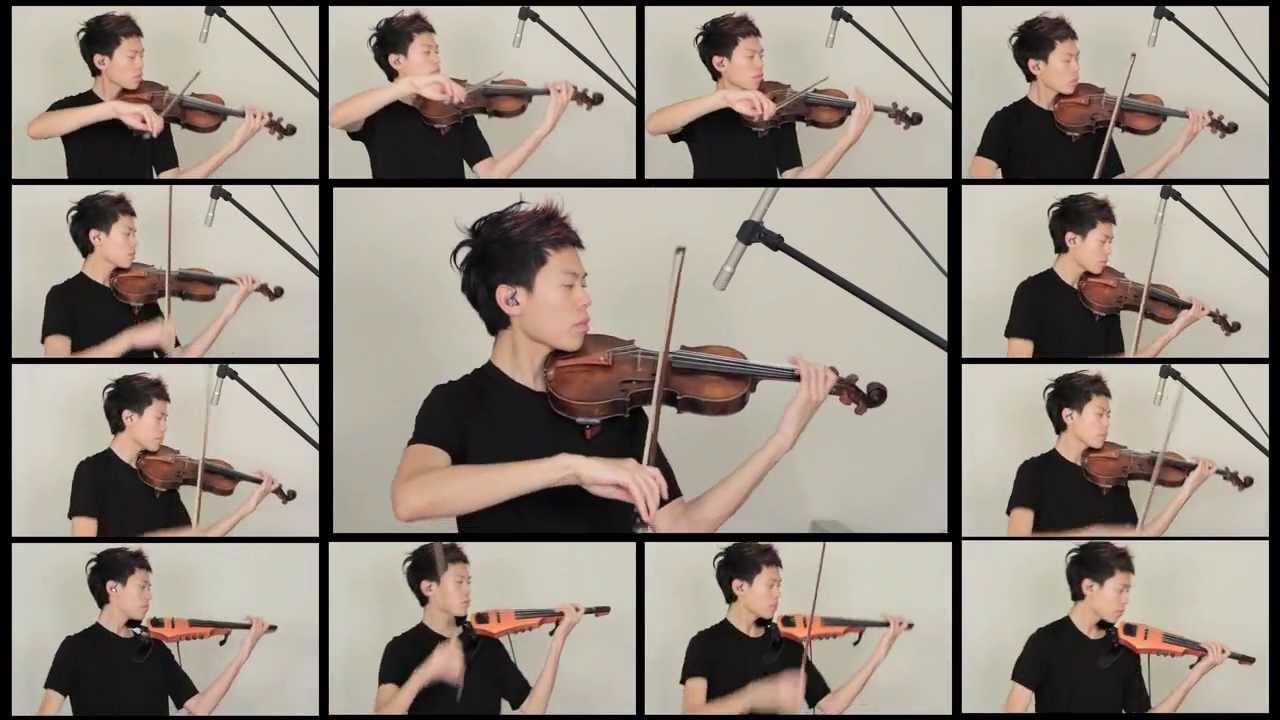 Nude violin musicians