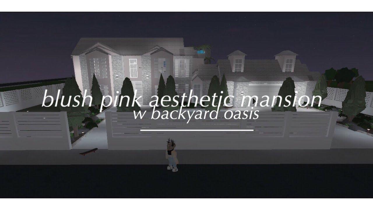 Blush Pink Aesthetic Mansion