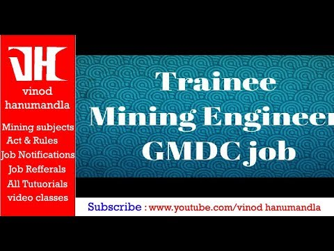 Trainee Mining Engineer || GMDC job