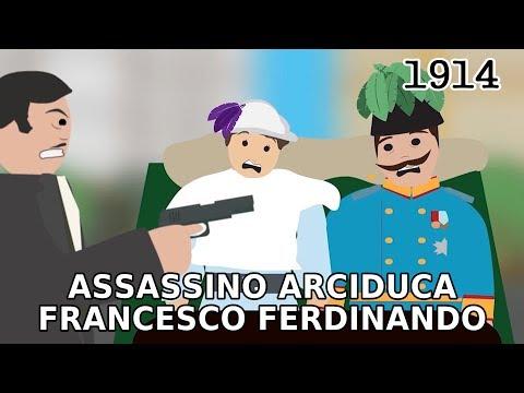 L'assassinio dell'Arciduca Francesco Ferdinando a Sarajevo (1914)