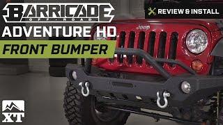 Jeep Wrangler Barricade Adventure HD Front Bumper (2007-2017 JK) Review & Install