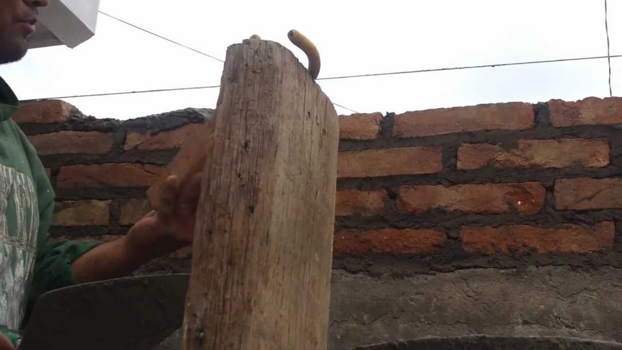 Como construir una pared de ladrillo youtube Construir una pileta de ladrillos