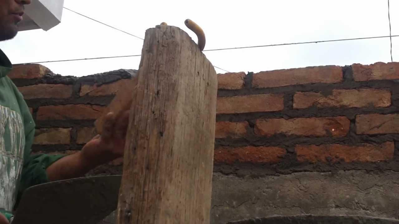 como construir una pared de ladrillo  YouTube