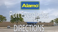 Directions to Alamo Car Rental at Port Everglades in 4K. Complete drive.