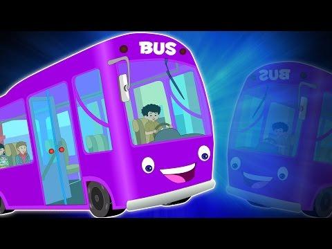 Bánh xe trên xe buýt | Phim hoạt hình cho trẻ em | video giáo dục | ươm vần | Wheels on the Bus