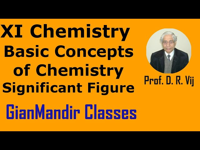 XI Chemistry - Basic Concepts of Chemistry - Significant Figure by Ruchi Ma'am
