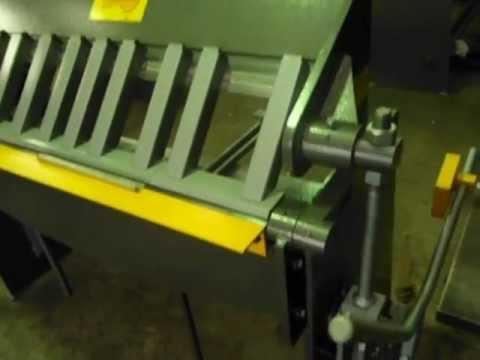 sheet metal finger brake. sheet metal pan brake folder. channel finger design. manual engineered in australia n