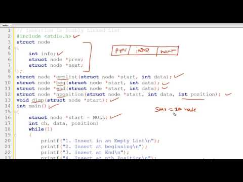 Program to Insert node in Doubly Linked List (Hindi)