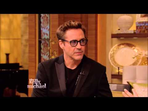 Robert Downey Jr Live! With Kelly and Michael 2015 04 24