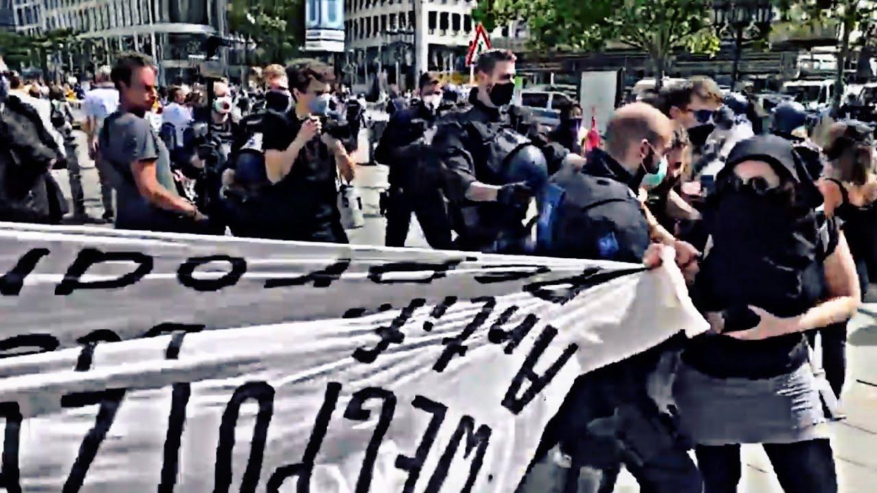 """""""Von wem Gewalt ausgeht ist egal!"""" Polizist weigert sich, linksextremen Angreifer festzunehmen"""