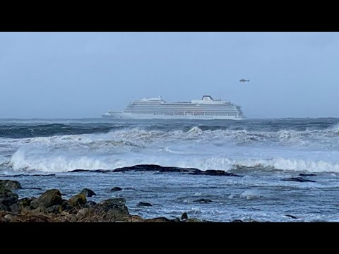Desperate rescue operation ongoing from stricken cruise liner off Norway