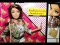 Mở hộp đồ chơi Búp bê Barbie có khớp Barbie Style Teresa có lông mi thật thời trang