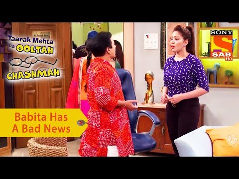Your Favorite Character | Babita Has A Bad News For Jethalal | Taarak Mehta Ka Ooltah Chashmah