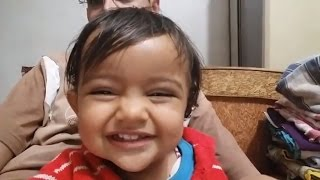 Cute Little Baby Yagni Laughing and Babling With Papa | Funny | 2015/01/21 212345