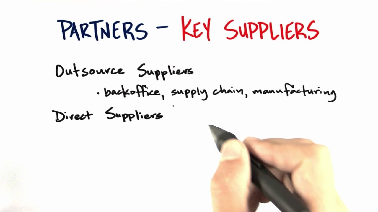 Key Suppliers - How to Build a Startup