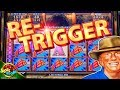 Money Blast BIG WIN BONUS !!!! Re-Trigger on 5c Konami Video Slot