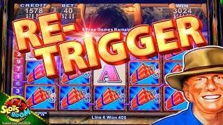 Money Blast BIG WIN BONUS !!!! Re-Trigger on 5c Konami Video Slot